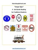 K - 2 Reading - Danger Signs - Life Skills - Visual Aid -