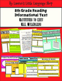 8th Grade Reading Informational Text Standards-based Activities