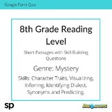 8th Grade Reading Level: Short Passages with Skill Buildin
