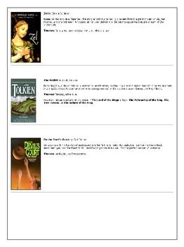 8th Grade Reading List