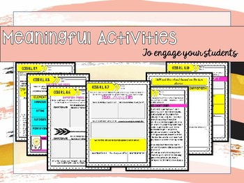 8th Grade Reading Literature Activities for All Standards