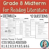 8th Grade Reading Midterm Exam | Reading Literature Midter