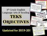 (Updated!!) 8th Grade English Language Arts and Reading TEKS Objectives