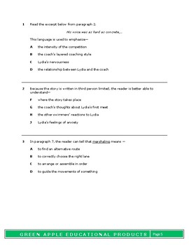 8th Grade Reading Test