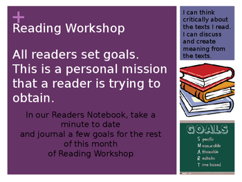 8th Grade Reading Workshop Launching