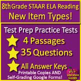 8th Grade STAAR Test Prep Reading Practice Tests Bundle