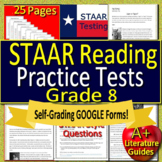 8th Grade STAAR Test Prep Practice Tests Reading Review Collection
