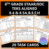 8th Grade STAAR EOC TEKS Aligned Task Cards 8.4 A,B,C & 8.5 A,B,E,F,H