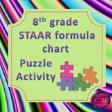 8th Grade STAAR Formula Chart Matching Activity - 2 Versions