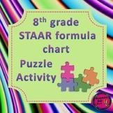 8th Grade STAAR Formula Chart Matching Activity - 2 Versions