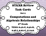 8th Grade Math STAAR Task Cards-Set 2-Computations and Algebraic Relationships