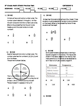 8th Grade STAAR Math Test Category 5