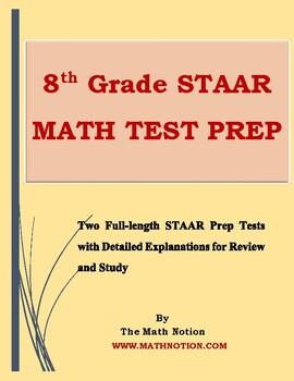 8th Grade STAAR Math Tests Prep