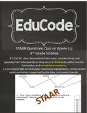 8th Grade STAAR Quiz or Warm Up Food Webs.