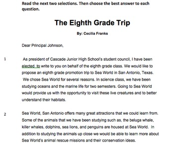 8th Grade STAAR Reading Practice