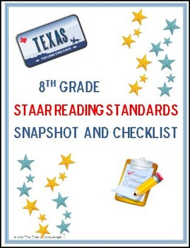8th Grade STAAR Reading Standards: Snapshot and Checklist