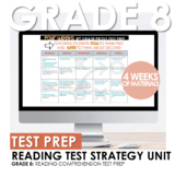 8th Grade STAAR Reading Test Prep Strategy or Summer School Four Week Unit