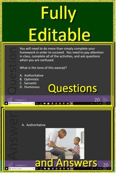 8th Grade STAAR Test Prep Reading Vocabulary Practice Game Reading Review