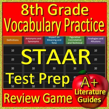 8th Grade STAAR Test Prep Reading Vocabulary Practice Game