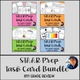 8th Grade STAAR Test Prep Review Task Cards Bundle