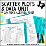 8th Grade Scatter Plots and Data Unit: TEKS