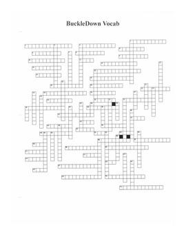 8th Grade Science AIMS Buckledown Vocab Crossword