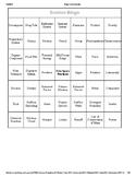 8th Grade Science Bingo Cards