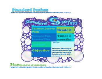 8th Grade Science Fair Lesson Plan for Interactive Notebooks