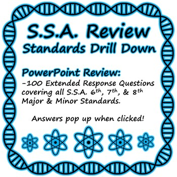 Statewide Science Assessment (SSA) Review: STANDARDS DRILL DOWN