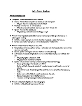 8th Grade Science Review Information