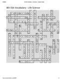 8th Grade Science SSA Vocabulary Crossword Puzzle - Life Science (Key)