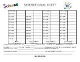 8th Grade Science STAAR Goal Sheets