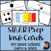 8th Grade Science STAAR Prep Task Cards: Earth and Space S