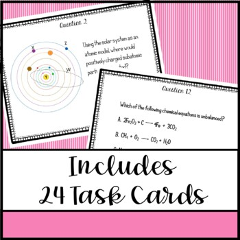 8th Grade Science STAAR Prep Task Cards: Matter & Energy Edition