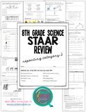 8th Grade Science STAAR Test Prep Review-Reporting Cat.2 (