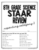 8th Grade Science STAAR Test Prep Review- Reporting Catego