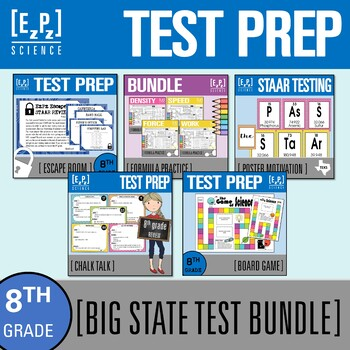 8th Grade Science STAAR Test Review BIG Bundle