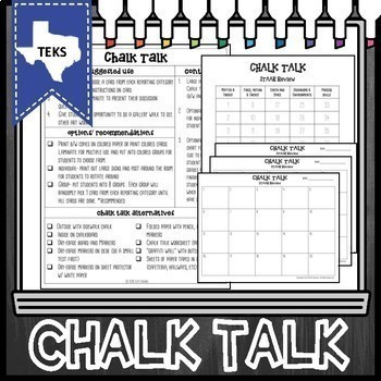 8th Grade Science STAAR Test Review- Chalk Talk