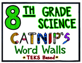 8th Grade Science TEKS Word Wall