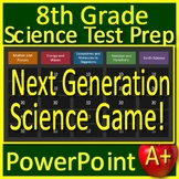 8th Grade Science Test Prep Game Review NGSS Units - Google Classroom Ready!