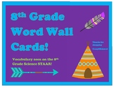 8th Grade Science Word Wall for STAAR
