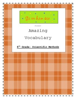 8th Grade Scientific Method Vocabulary Packet