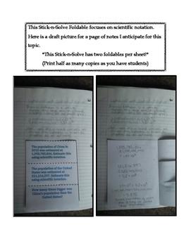 8th Grade Scientific Notation Lesson: FOLDABLE & Homework