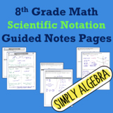 Scientific Notation Guided Notes Pages