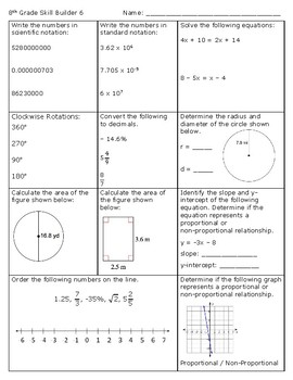 math grade 6 skill builders