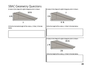 8th Grade Smarter Balanced Geometry Questions