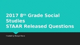 8th Grade Social Studies 2017 STAAR Released PowerPoint wi