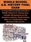 Middle School U.S. History Final Exam