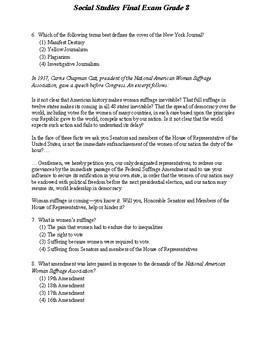 8th Grade Social Studies Final Exam