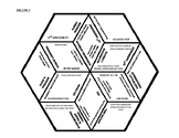 8th Grade Social Studies - Georgia - History Hex Puzzle - GPS Standards SSH6-7
